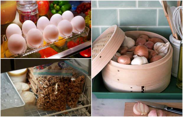 Секреты грамотного хранения продуктов на кухне.