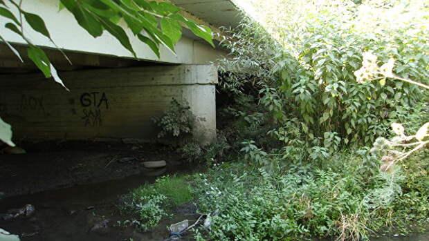 Грушевский мост, г. Шахты, вид с востока. Здесь 24 декабря 1978 года было обнаружено тело первой жертвы Андрея Чикатило — 9-летней Елены Закотновой