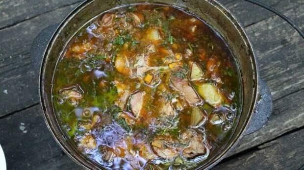 Бограч или Венгерский гуляш блюдо, в казане, видео, еда, рецепт, фото, фоторецепт