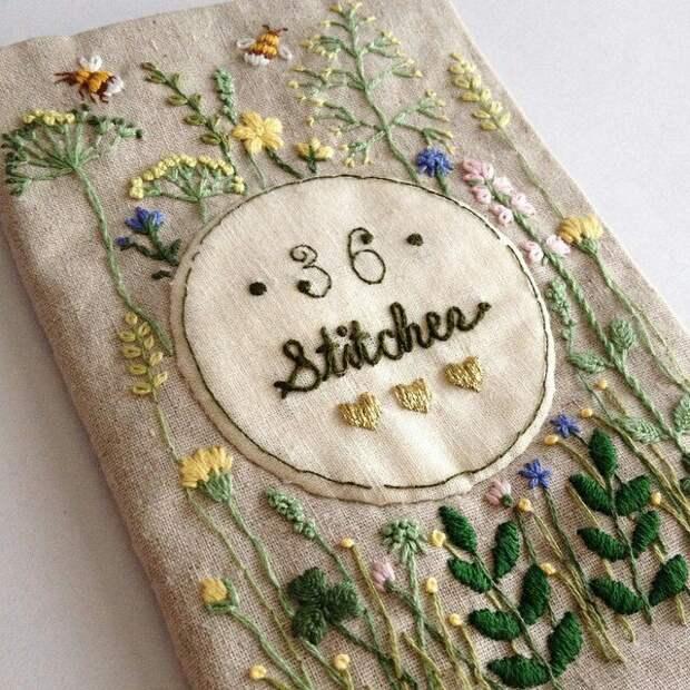 Вышитая книга от @Atelier_hola