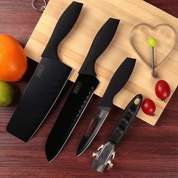Обычный кухонный нож