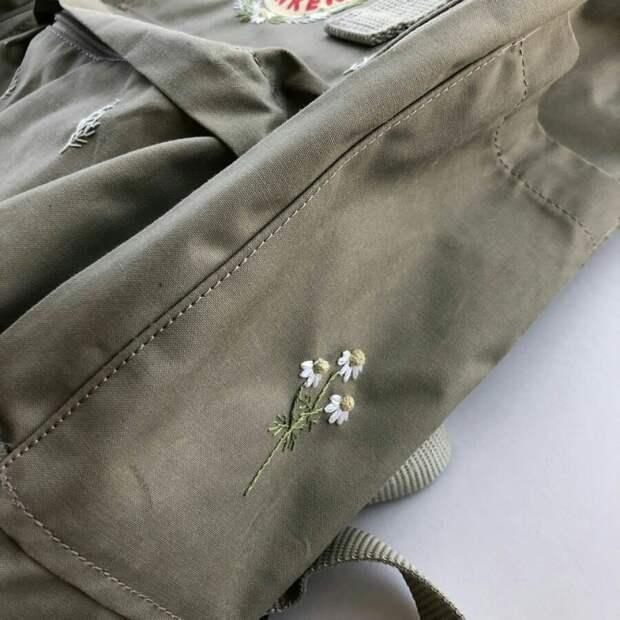 Вышивка рюкзака kanken