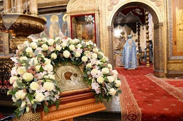 Казанская икона Божией Матери в храме Христа Спасителя
