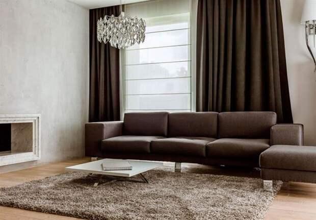 Шоколадный цвет - хороший вариант для дизайна интерьера любого помещения.