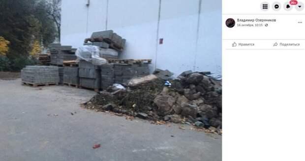 Строительный мусор на Дыбенко уберут до конца месяца