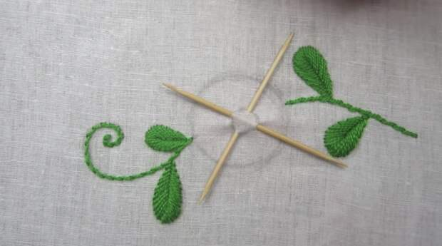 Нестандартное применение зубочисток для оригинальной вышивки