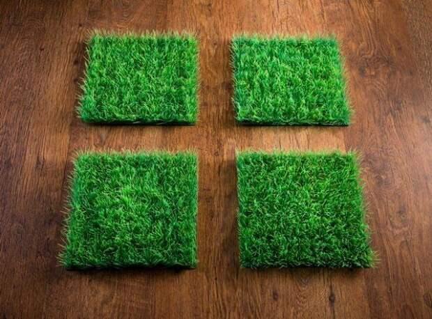 Попробуйте отличить полимерный газон от настоящего