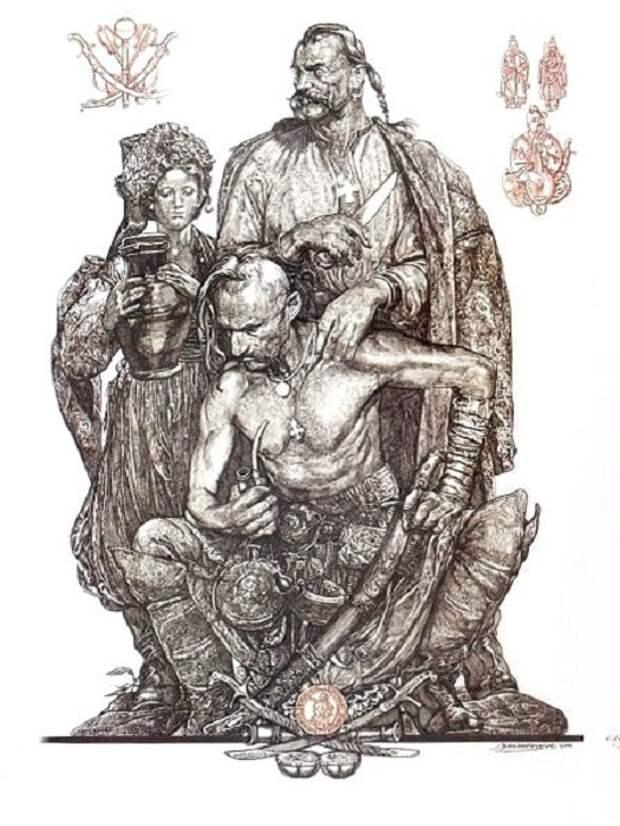 Запорожские казаки. Автор: Сергей Георгиевич Якутович
