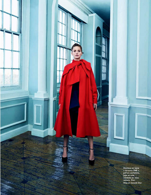Дженнифер Лоуренс  для октябрьского номера журнала «Elle France»