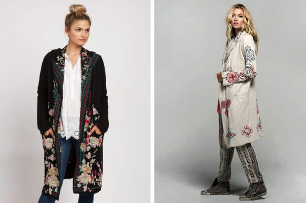 Бохо-вышивка на одежде (трафик)