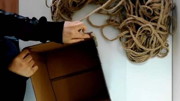 Интересный и стильный способ плетения джутовой веревкой