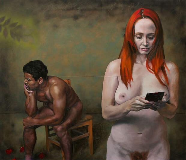 Злые карикатуры налюдей, которым весь мир заменил экран смартфона