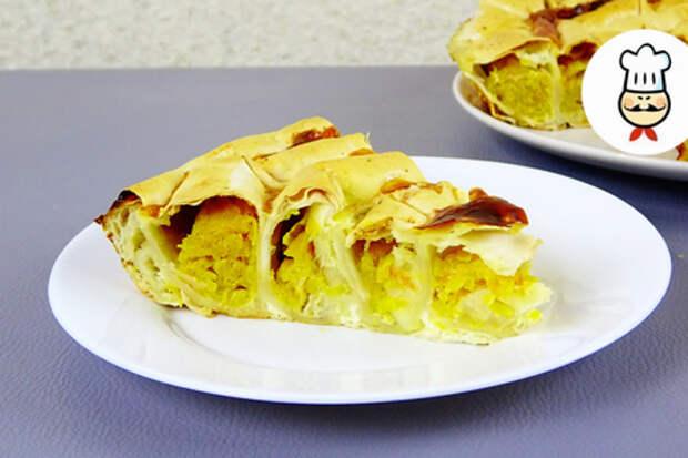 Ленивый пирог с тыквой
