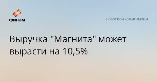 """Выручка """"Магнита"""" может вырасти на 10,5%"""