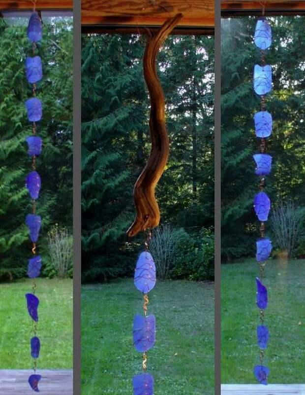 Дождевые цепи: декоративные водостоки