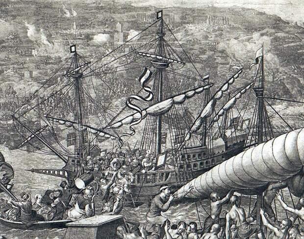 Португальский галеон «Ботафого» во время осады Туниса (1535 год) - Диу: недружественный визит | Warspot.ru