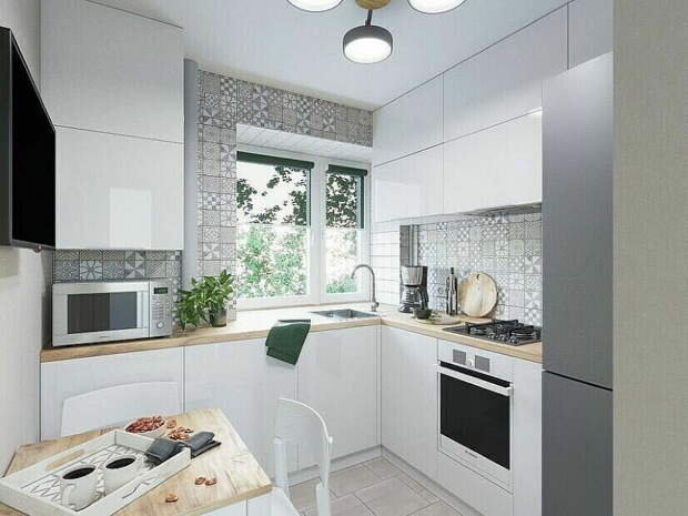 Маленькая кухня (6-9 м2) 5 стильных и функциональных решений