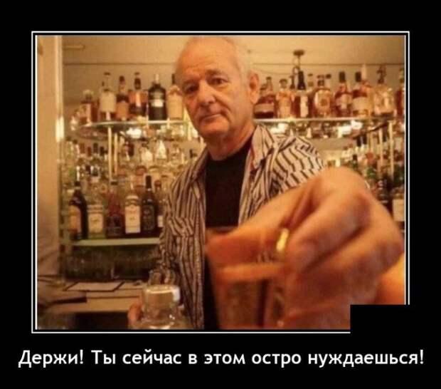 Демотиватор про выпивку