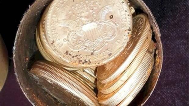 9. Настоящее сокровище - более 10 миллионов долларов в золотых монетах - обнаружила пара из Калифорнии археология, дача, находки, удивительное рядом