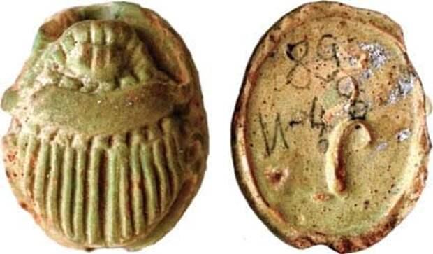 Сарматы хоронили своих детей с древнеегипетскими фаянсовыми скарабеями