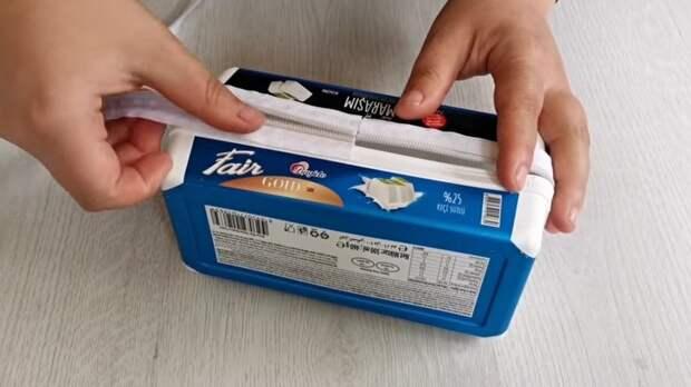 Полезная идея из пластиковых лотков от мороженого. Практичная и интересная вещь