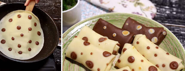 Аппетитные блинчики в горошек: просто и оригинально!