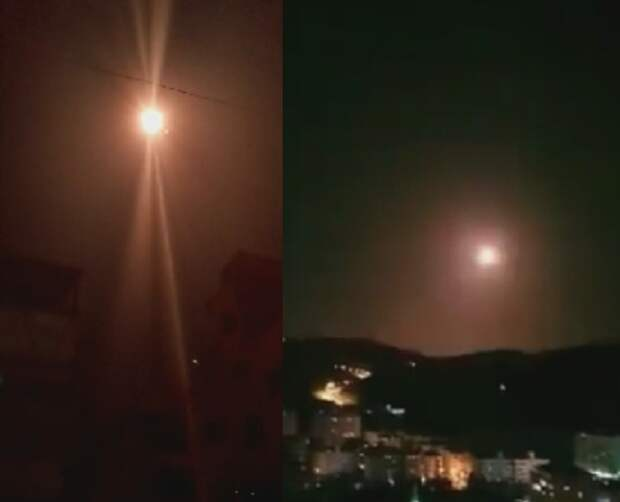 «Три перехвата»: работу ПВО Дамаска сняли на видео