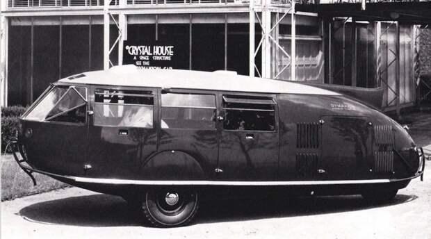 Третий Dymaxion, принадлежавший известному дирижеру Стоковскому. 1934 год авто, автодизайн, автомобили, дизайн, интересные автомобили, минивэн, ретро авто