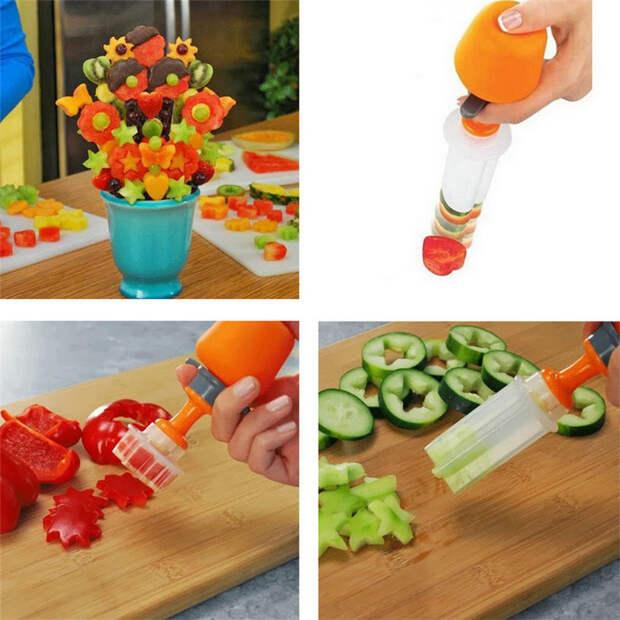 12 ножей и слайсеров для овощей и фруктов