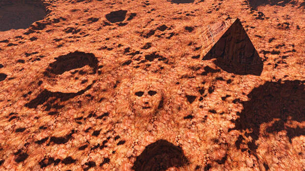 Лицо Марса, Сатана и Козерог