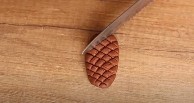 Печенье «Шишки» Шоколадное, новогоднее, песочное печенье с начинкой