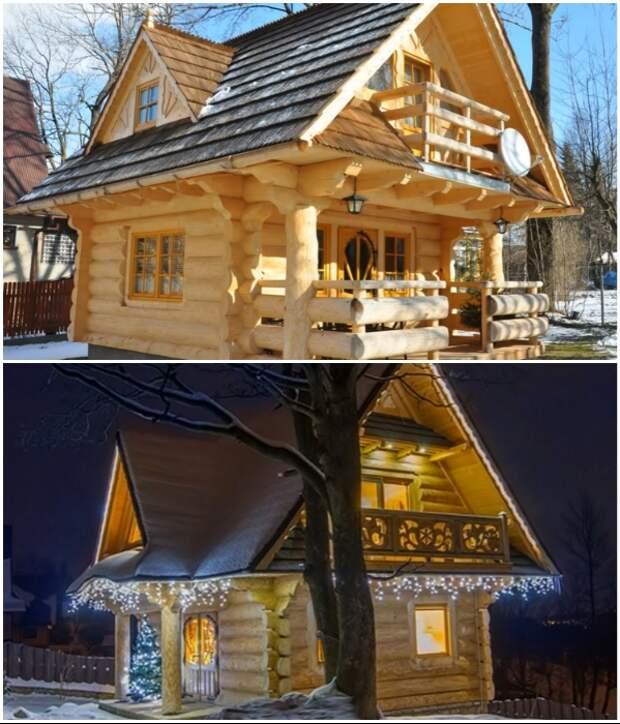 Крошечный бревенчатый дом из Швейцарии покорил сказочной красотой и рациональной планировкой («Stunning Gate Lodge»).   Фото: youtube.com/ © Vuong Le.