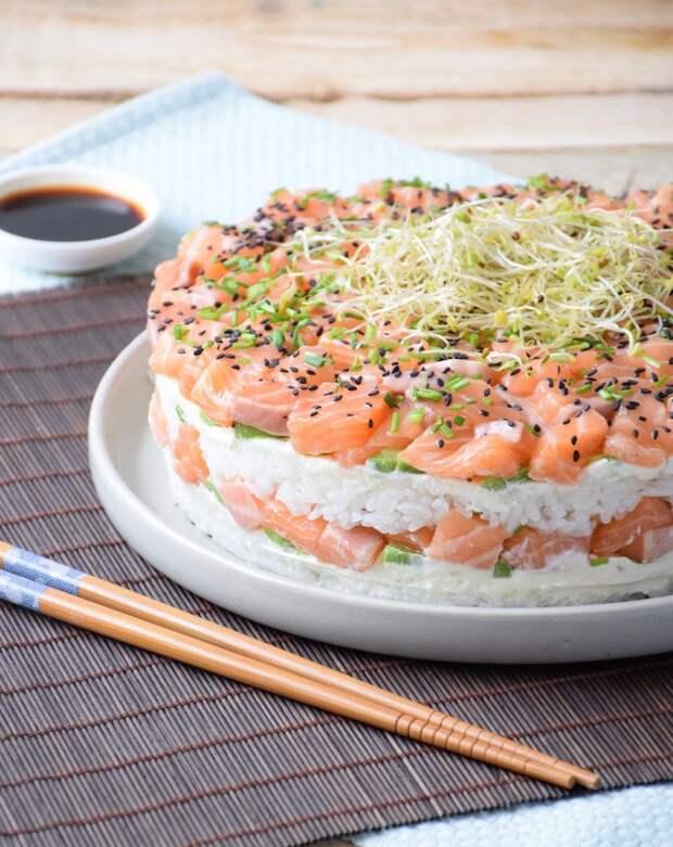 Вот рецепт суши-торта, от которого будут в шоке все ваши близкие!