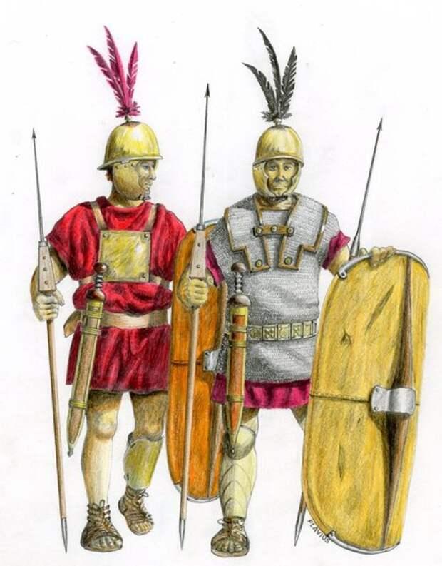 Гастаты раннего легиона (примерно IV век до н. э.)