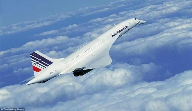 """Легендарный сверхзвуковой лайнер """"Конкорд"""" - один из двух (вместе с Ту-144), совершавших регулярные авиарейсы. Эксплуатировался авиакомпаниями British Airways и Air France. авиалайнер, авиация, интересно, исторические фото, история, книги, редкие фото, самолеты"""