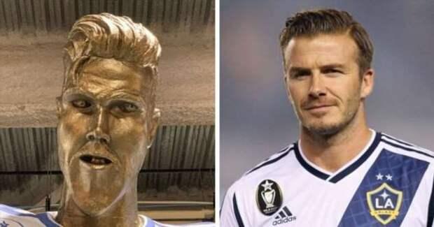 Забавные и нелепые статуи известных людей (12 фото)