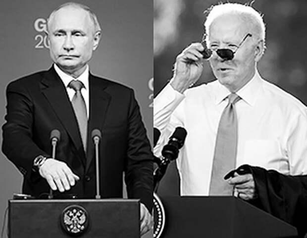 В соцсетях указали на контрастные отличия итоговых пресс-конференций Путина и Байдена