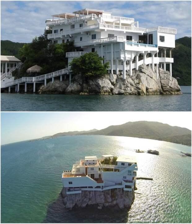 Villa on Dunbar Rock – эксклюзивный дайвинг-курорт на скале среди вод Карибского моря. uniqhotel.ru.