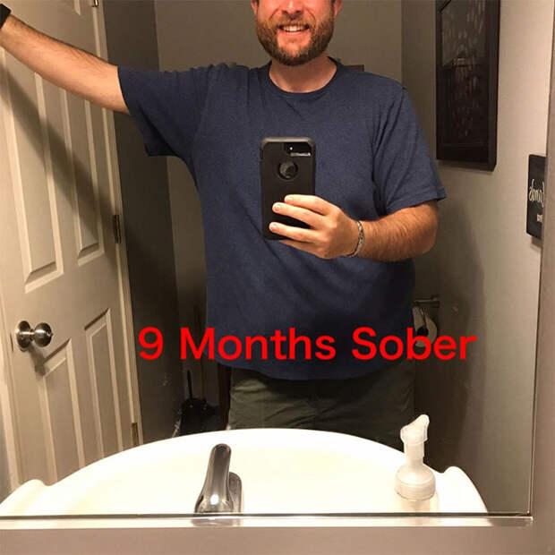 Бывший алкоголик показал, как изменился за3 года трезвости, иего результат просто впечатляет!