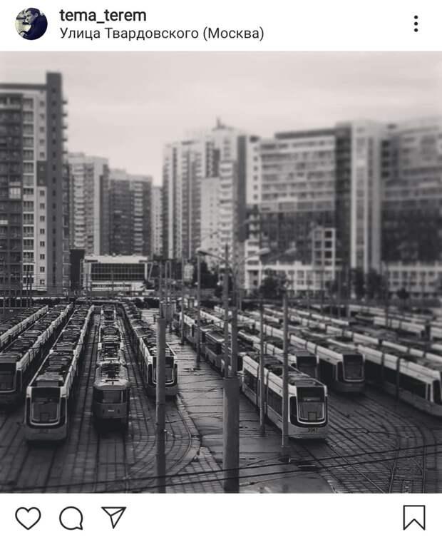 Фото дня: трамвайная ночлежка на Твардовского