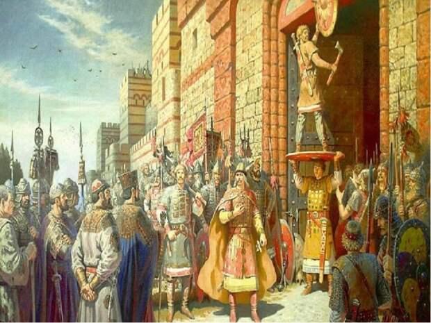 Поход великого князя Олега на византийцев и заключение договора. Миф или правда?!