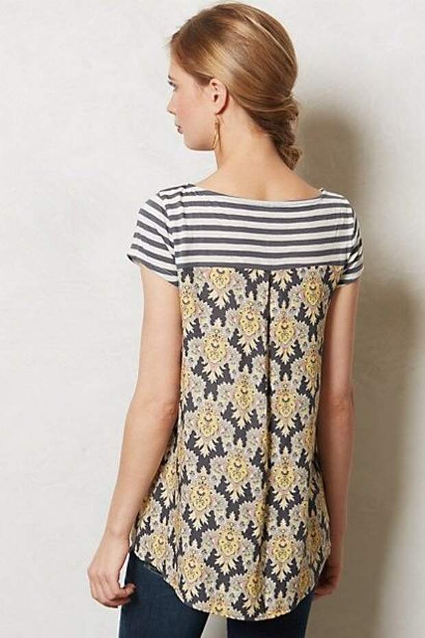 Anthropologie Inspired T-shirt Refashion: