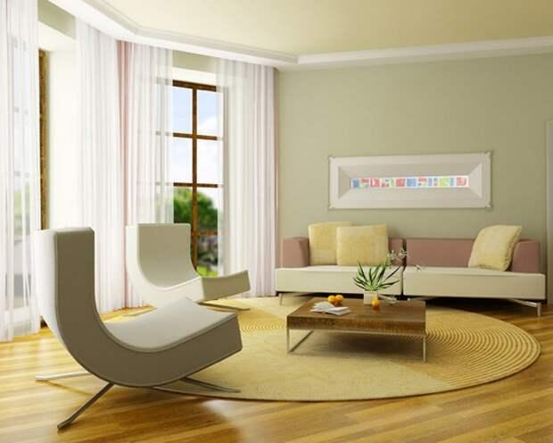 Круглый ковер в гостиную фото