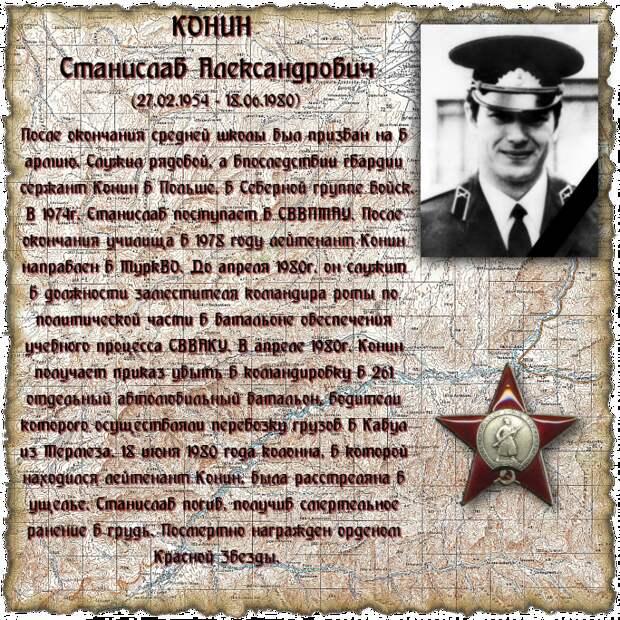 Лейтенант КОНИН Станислав Александрович