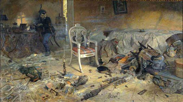 Ипатьевский дом после цареубийства. Автор: Павел Рыженко.