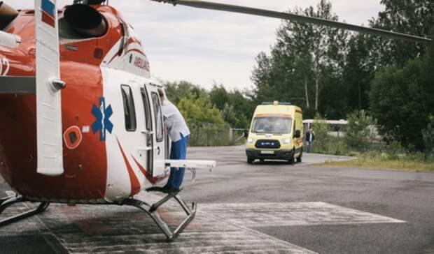 В Оренбург на вертолете санавиации доставили двух пациентов