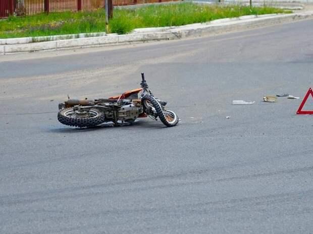 Мотоциклист перевернулся в Забайкалье