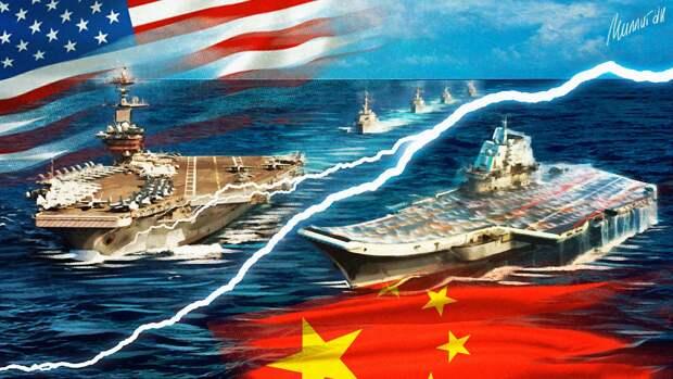 """Китайские моряки обратили в бегство американский эсминец """"Джон Маккейн"""""""