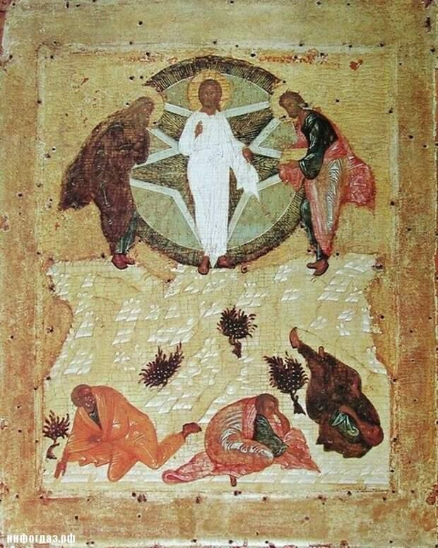 Андрей Рублёв. Преображение Господне. 1405 г.