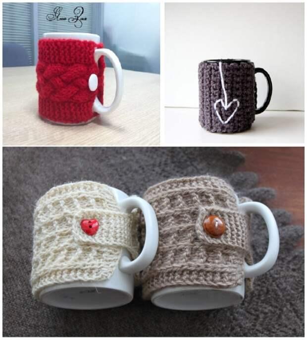Подборка схем для вдохновения: Свитерки для чашек, фото № 4